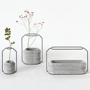 Weight Vases by Decha Archjananun, great design to fit lofts and modern houses.