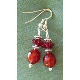 Red Earrings - lightweight synthetic beads £4.99