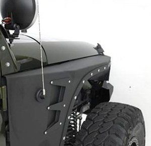 Smittybilt Jeep JK XRC Rear Corner Guards and Front Fender Flares Full Set
