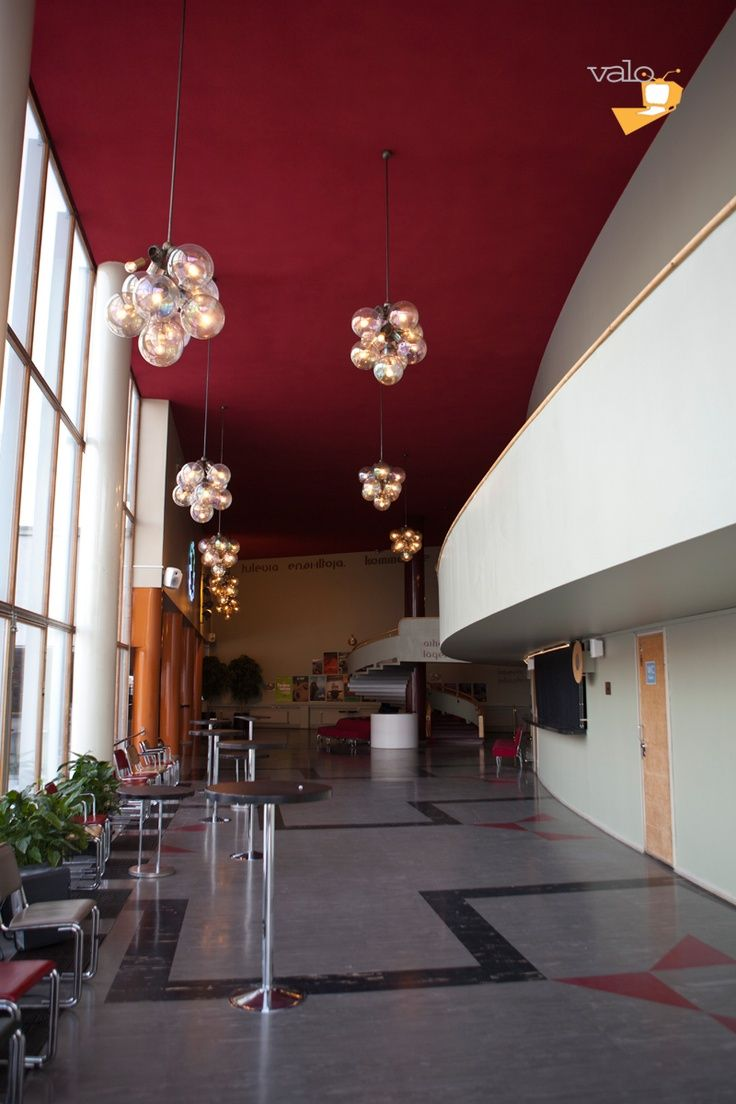 Bio Rex, Lasipalatsi - architecture - Bio Rex cinema theater's hallway in Glass Palace, Helsinki Finland