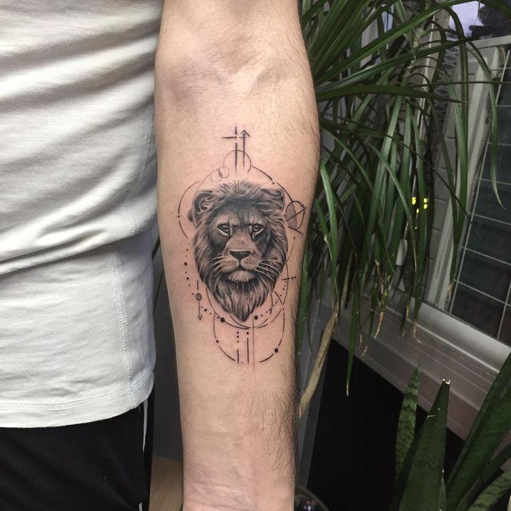 Artist:Serdar Akkoç  #lion #tattoo #tat #liontattoo #smalltattoos