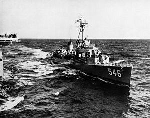 USS Brown (DD-546) Fletcher-class destroyer.
