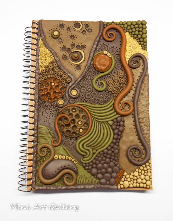 Notebook Cover Art ~ Best polymer clay journal and book cover images on