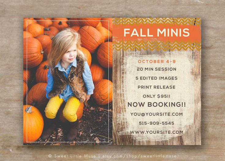 Fall Mini Session Template - Autumn Mini Session Template for Photographers - Rustic Fall Minis - pinned by pin4etsy.com