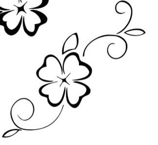 Four leaf clover simple foot