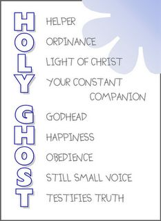 Holy Ghost, good one to rememeber to teach my future kids!!
