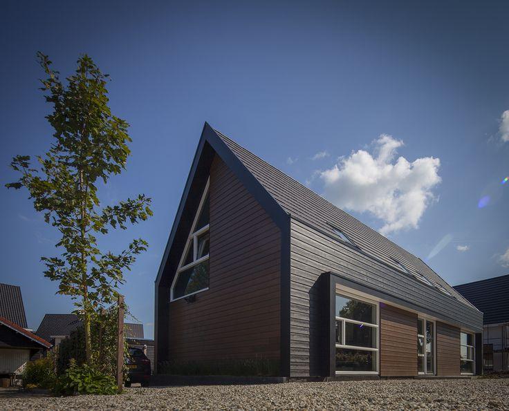 Moderne woning, archetype vorm van een huis #modern #architecture #dutch