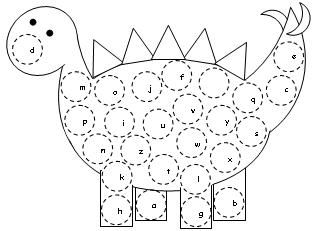 ABC Dinosaur Letter Assessments activity available at www.makinglearningfun.com.