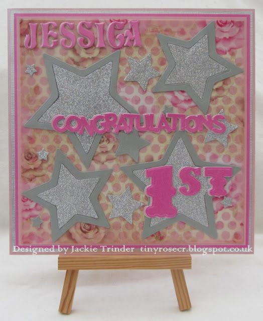 Tinyrose's Craft Room: Alphabet Challenge Blog - Letter Y - You Choose a graduation card for someone who got a first.