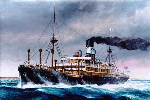 The SS Waratah was a 500-foot (150 m) long cargo liner steamship that operated between Europe and Australia in the early 1900s. In July 1909, the ship, en route from Durban to Cape Town, disappeared with 211 passengers and crew aboard. To this day, no trace of the ship has been found.