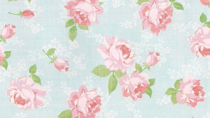 Pink Vintage Floral Wallpapers.