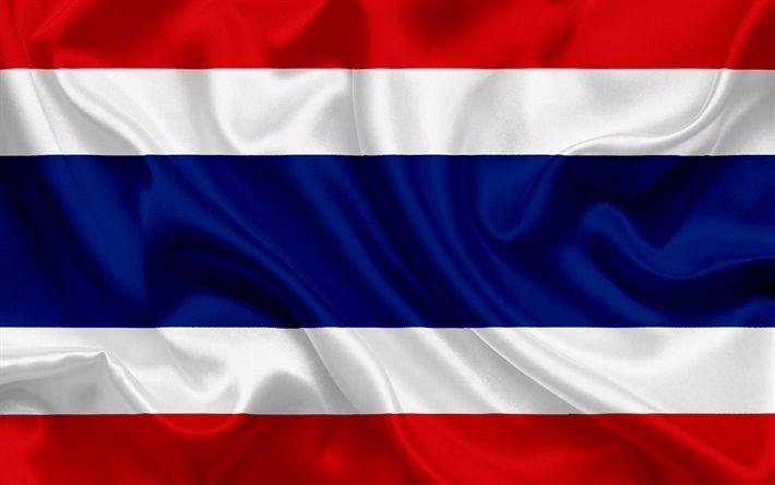 Descargar fondos de pantalla Tailandia la bandera, Tailandia, Asia, Shekh bandera, los símbolos nacionales, la bandera de Tailandia