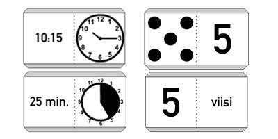 Numerot, laskeminen, kellonajat