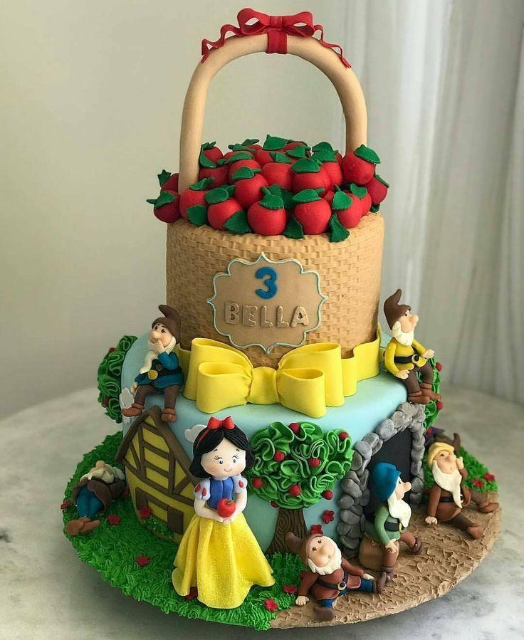 Snow white cake torta blancanieves y los 7 enanos