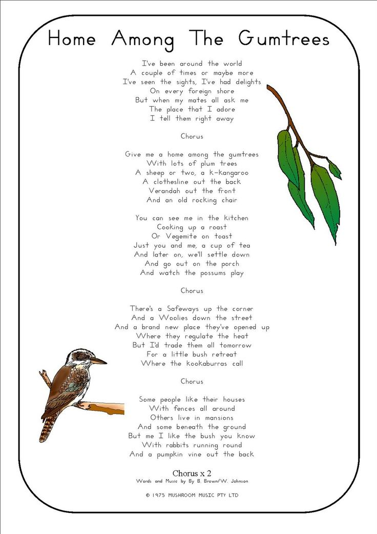 Our Worldwide Classroom: Classic Australian Songs with Printable