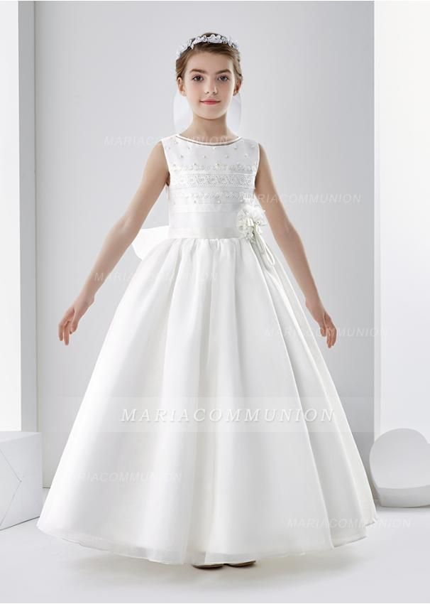 First Communion Dress With Lace And Beading