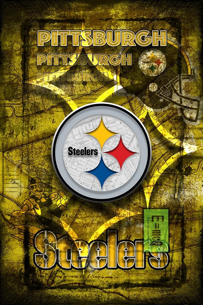 Pittsburgh Steelers Football Poster, Pittsburgh Steeler Gift, Pittsbur                      – McQDesign