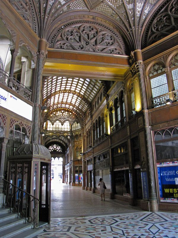 100-year-old Parisian Shopping-mall - Budapest, Hungary
