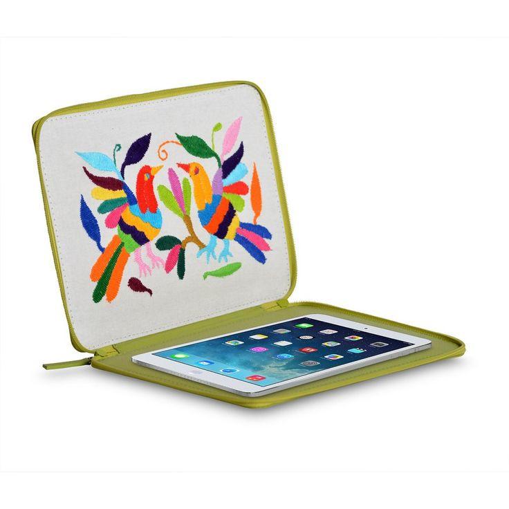 A+A Funda para iPad flexibleOtomí #Funda #ipad #hechoamano #artesanias #artesaniasmexicanas #handmade #articulosdepiel