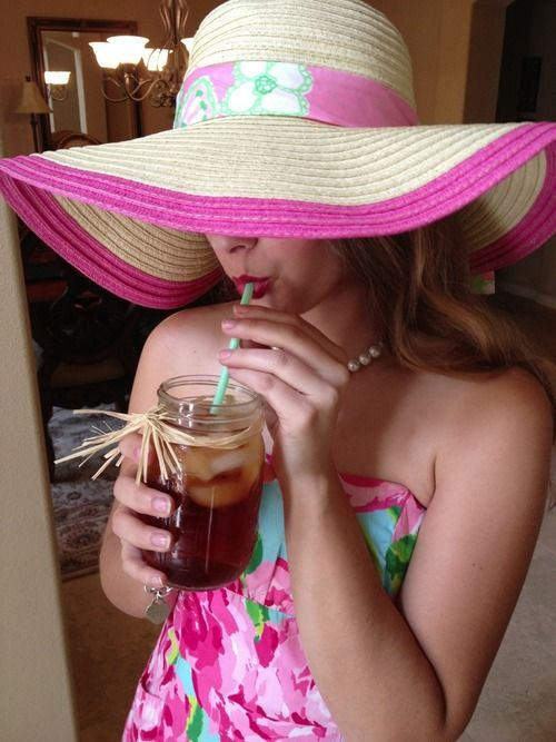 Lilly Pulitzer down south sippin that sweet tea