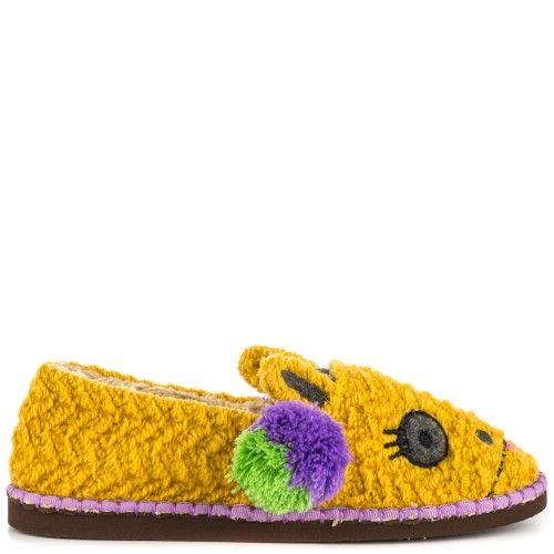 Tigerbear Republik Beastie Bestie Women US 8 Yellow Slipper, Women's, Size: 8 B(M) US, Purple
