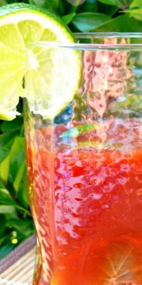 Happy Husband's Spicy Drink - this non-alcoholic drink is similar to V-8's Hot 'n Spicy and packs quite a kick. I've used a recipe almost exactly like this for a simmer sauce for my pot luck swiss steak dish and it's always the first dish everyone grabs!