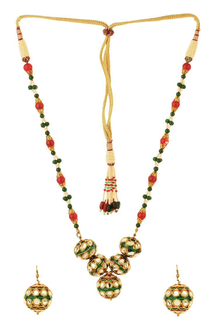 Dilan Jewels PURE Collection Ethnic Antique Pearl Beaded Kundan Kanth Necklace Set For Women. Elegant and classy, this multi coloured necklace set fromDilan Jewels' PURE Collection will add bling to your look. Made from silver alloy, this necklace set is durable and skin friendly. This designer necklace set will go well with a matching saree or a dress.