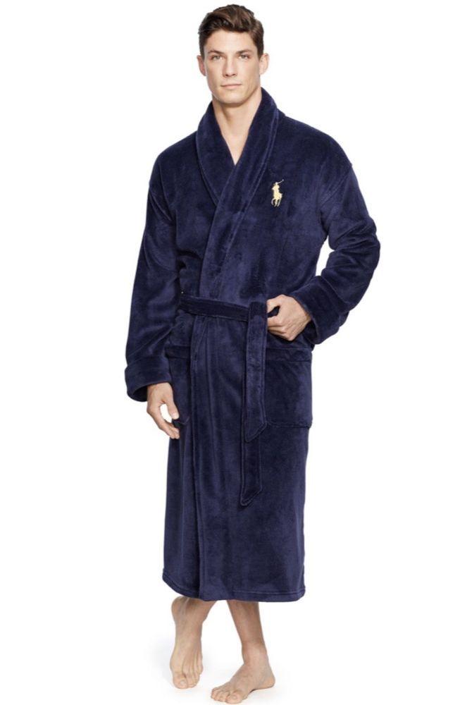 Mens Dark Blue Ralph Lauren Bath Robe Size Large Xl Fashion Clothing Shoes Accessories Mensclothing Sleepwearrobes Ebay Link