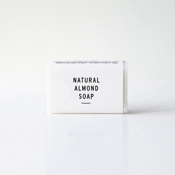 Natural almond soap by ekodizajn on Etsy