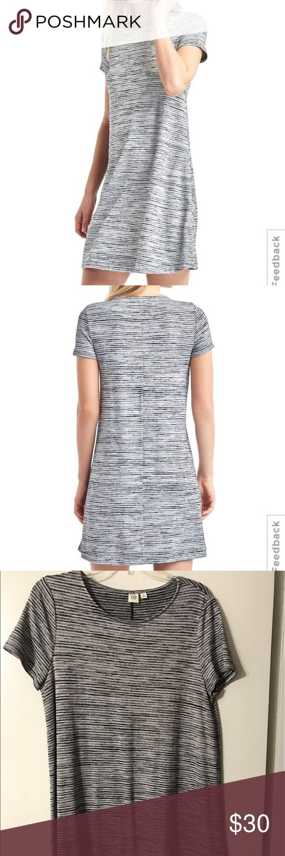GAP T-shirt Dress This t-shirt dress is SUPER soft and comfy! It has been worn ONCE! With the colors being black and white, it's super neutral! GAP Dresses