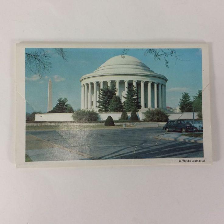 Postcard Souvenir Folder Washington DC LB Prince Co. Inc Fairfax Virginia VTG