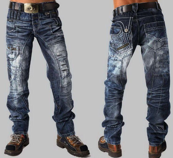 Kosmo Lupo Jeans K&M 020,Luxus Hose,Hot Japan Zipp-Style W30-W32-W34-W36-W38