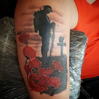 ww2 memorial tattoos designs poppy canadian flag - Google Search