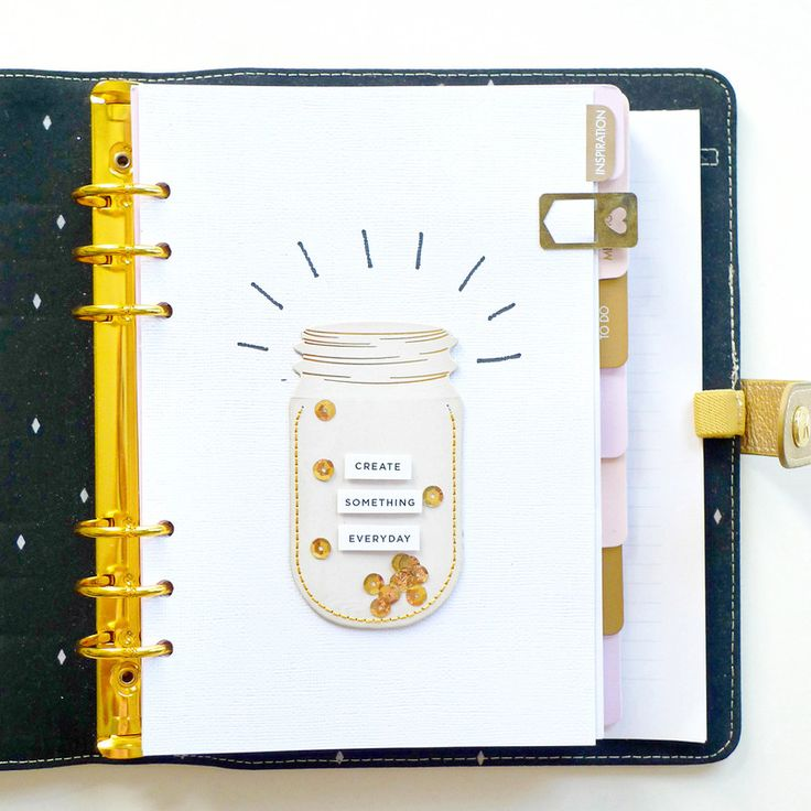 Planner Dashboard - Create Something Everyday by analogpaper at @studio_calico