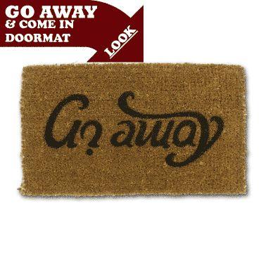 Ambigram Doormat - Come In/Go Away - Fred Aldous