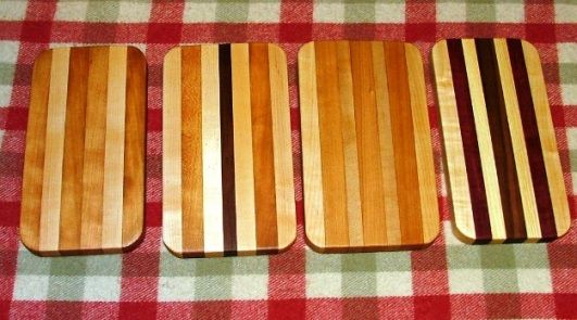 """Smaller in size than our Cutting Boards, these average around 4.5 to 5 inches in width and 9 to 10 inches in length. Roughly 7/8""""to an inch thick and coated with food grade Tung Oil www.joeowoodshop.com"""