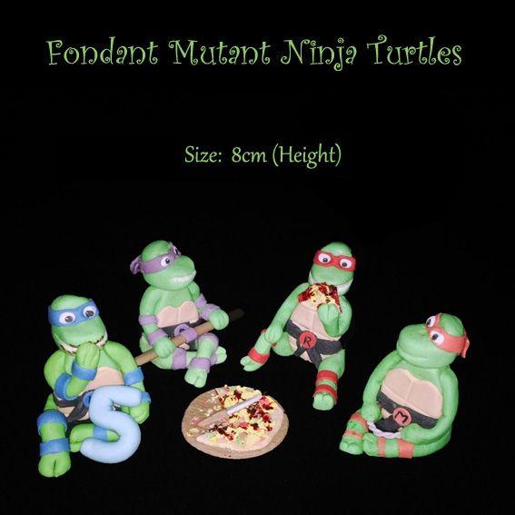 Fondant Ninja Turtles (Bloemfontein cake & cupcakes)