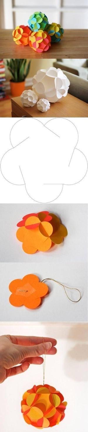 DIY Paper Christmas Balls by aracisgon