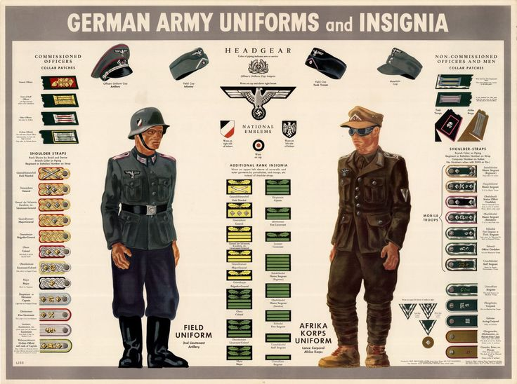 army+uniform+patch+placement | WWII German Army Insignia and Uniforms by Unknown Artist