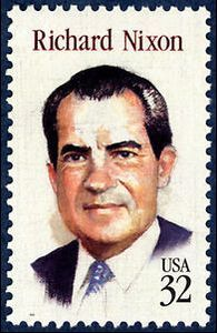 Richard M Nixon 1995 Issue-32c - U.S. presidents on U.S. postage stamps - Wikipedia, the free encyclopedia