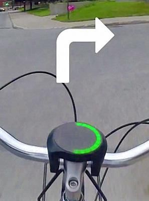 The SmartHalo attaches to the handlebars of any normal bicycle and, once paired with your smartphone, acts as a visual navigation guide, complete with turn-by-turn signaling