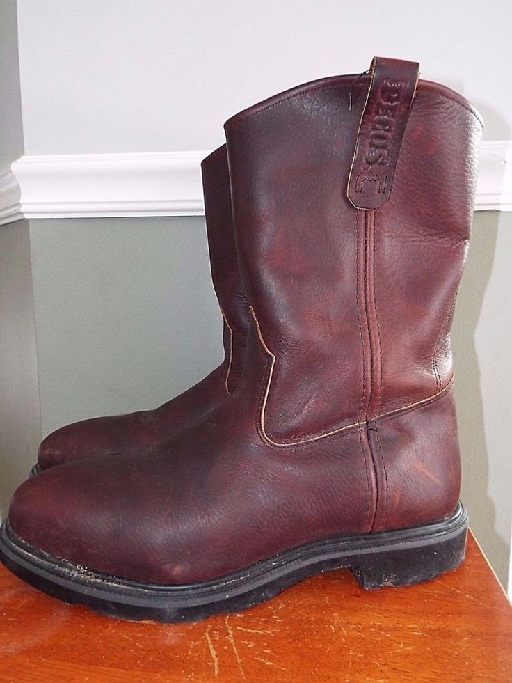 """Red Wing Pecos 11"""" pull on leather boot size 10 E2 #4470 NICE Cond! #RedWing #WorkSafety"""