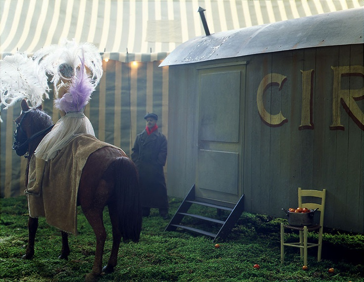 """Artist: Paolo Ventura """"The Circus Caravan"""""""