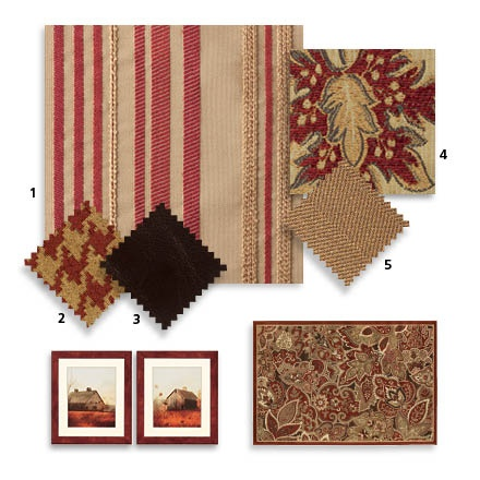Bassett Furniture Fabrics Classic Red IX  Colors For Our Den