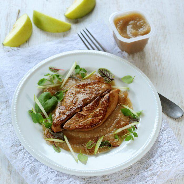 Foie gras poêlé à la châtaigne et aux pommes vertes