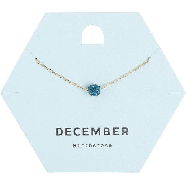 Miss Selfridge December Birth Stone Necklace ($11) ❤ liked on Polyvore featuring jewelry, necklaces, turquoise, miss selfridge, stone jewellery, stone jewelry and stone necklace