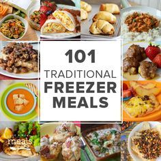 Our Traditional freezer meals are where this all began! Here is a list of 101 recipes that are simple, family friendly, delicious, and of course freezer friendly.