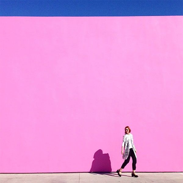 The 30 Most Instagrammed L.A. Landmarks #refinery29  http://www.refinery29.com/popular-los-angeles-landmark-photos#slide-3  Paul Smith Refinery29 EIC Christene Barberich knows the formula for a perfect portrait: bright pink wall + clear blue sky = #instagold.Paul Smith, 8221 Melrose Avenue (at North Harper Avenue); 323-951-4800.