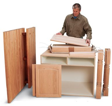 How to Build a Kitchen Island with Butcher Block and Pre-built Panels - Free Woodworking Plans