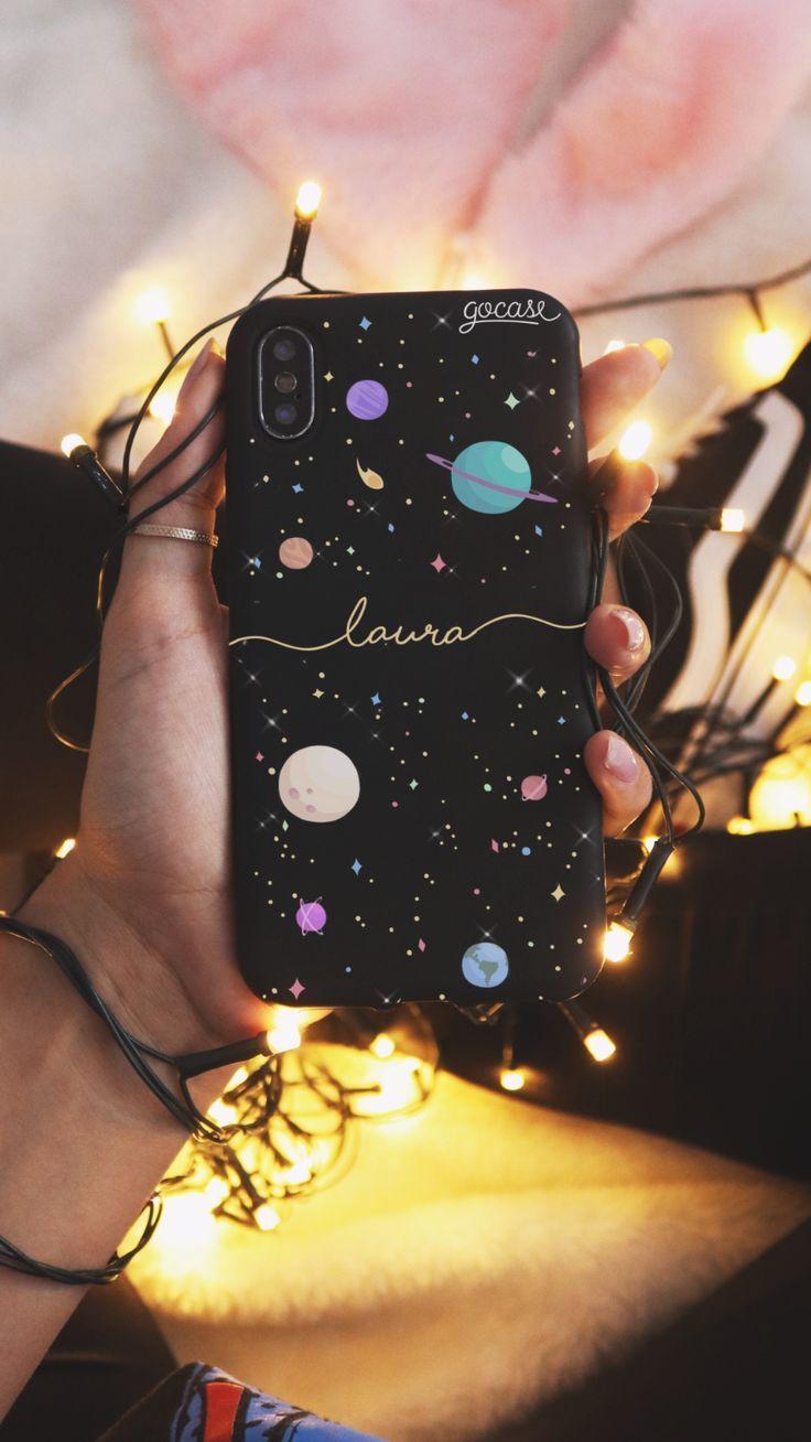 Black Case Planets Handwritten Phone Case – #Black…